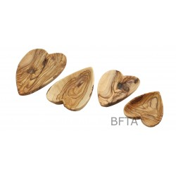 Olive Wood heart Plates – Set of 3