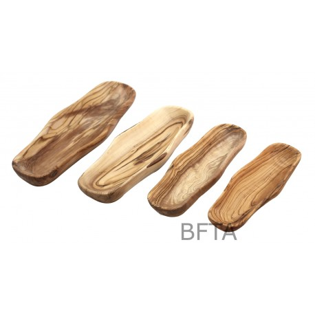 Olive Wood Rectangular Plates – Set of 3